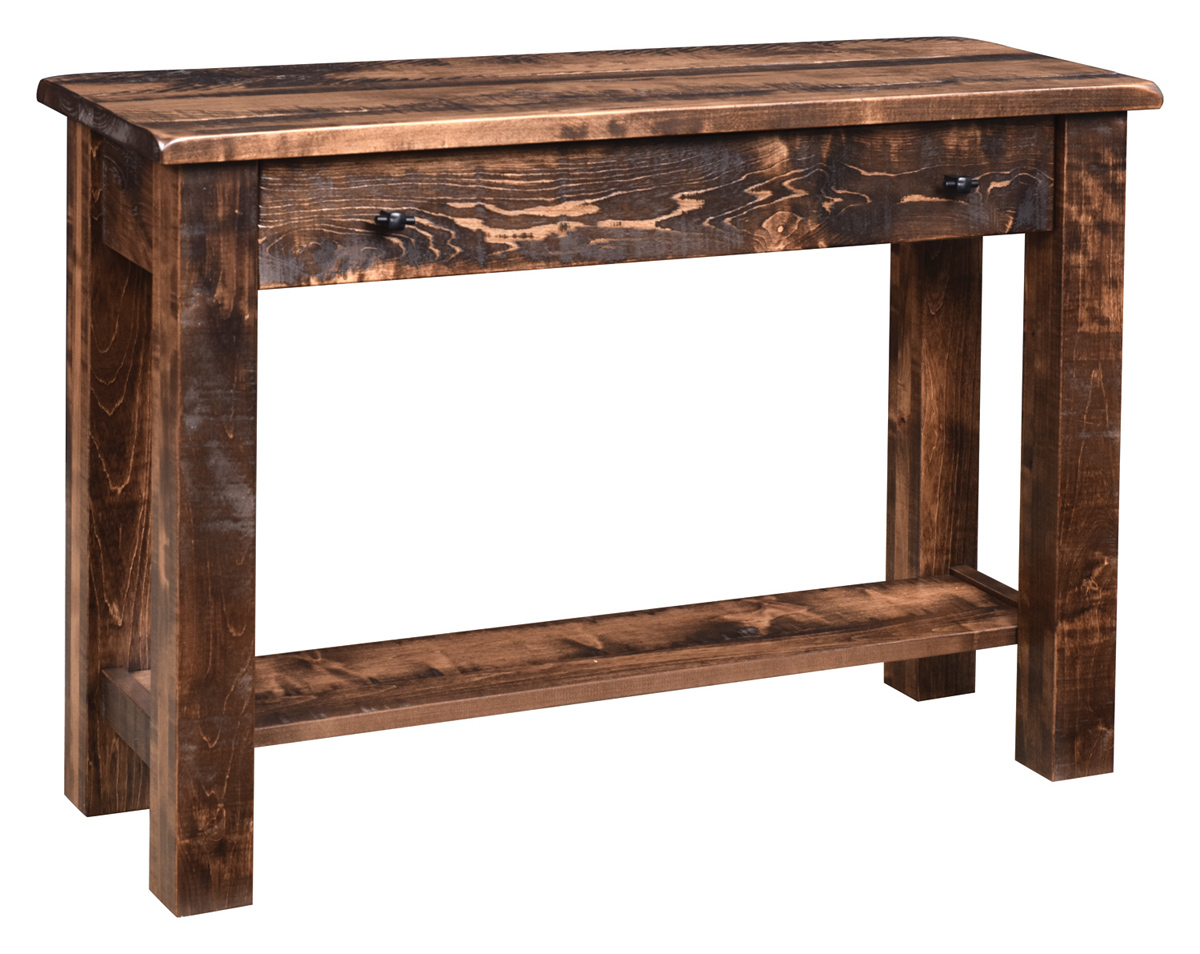 Everest Rustic Sofa Table In Brown Maple pertaining to sizing 1200 X 954