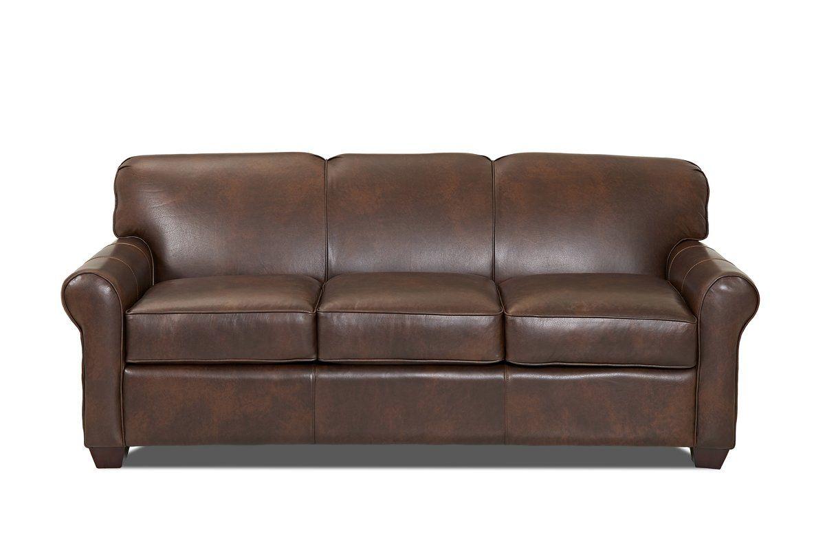 Leather Sofa Joss And Main Patio Ideas
