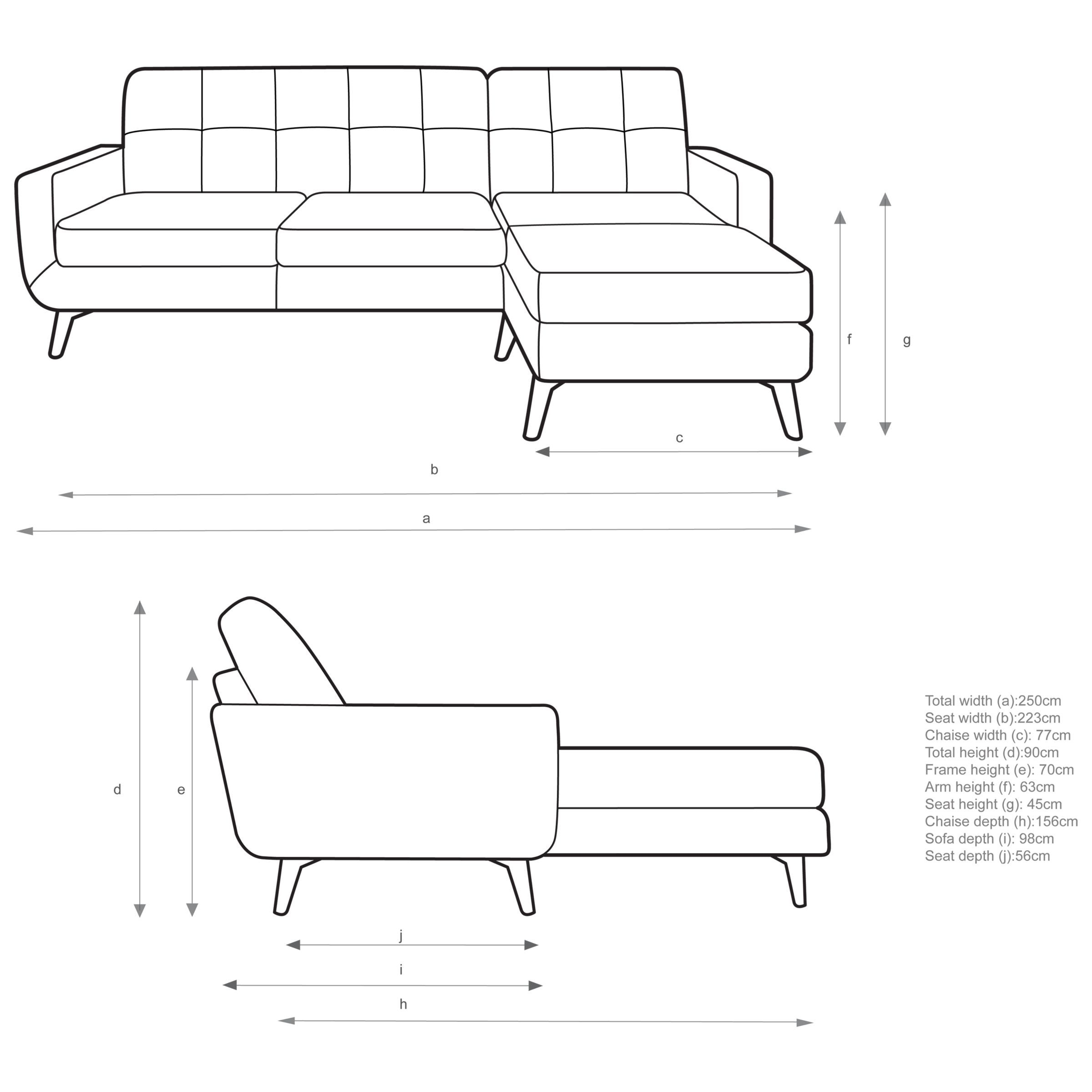 John Lewis Partners Barbican Leather Rhf Chaise End Sofa in measurements 2400 X 2400