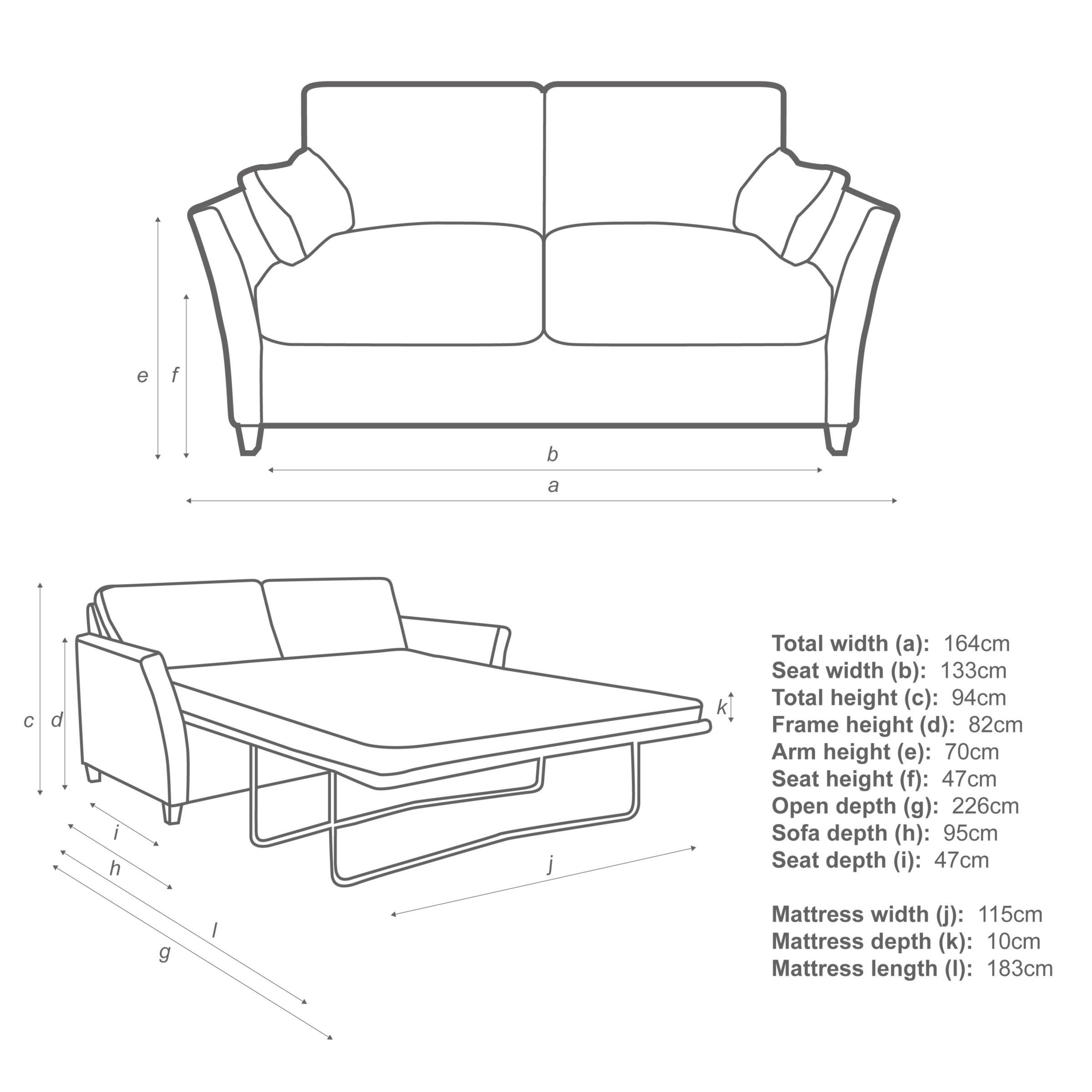 John Lewis Partners Chopin Small Pocket Sprung Sofa Bed In with size 2400 X 2400
