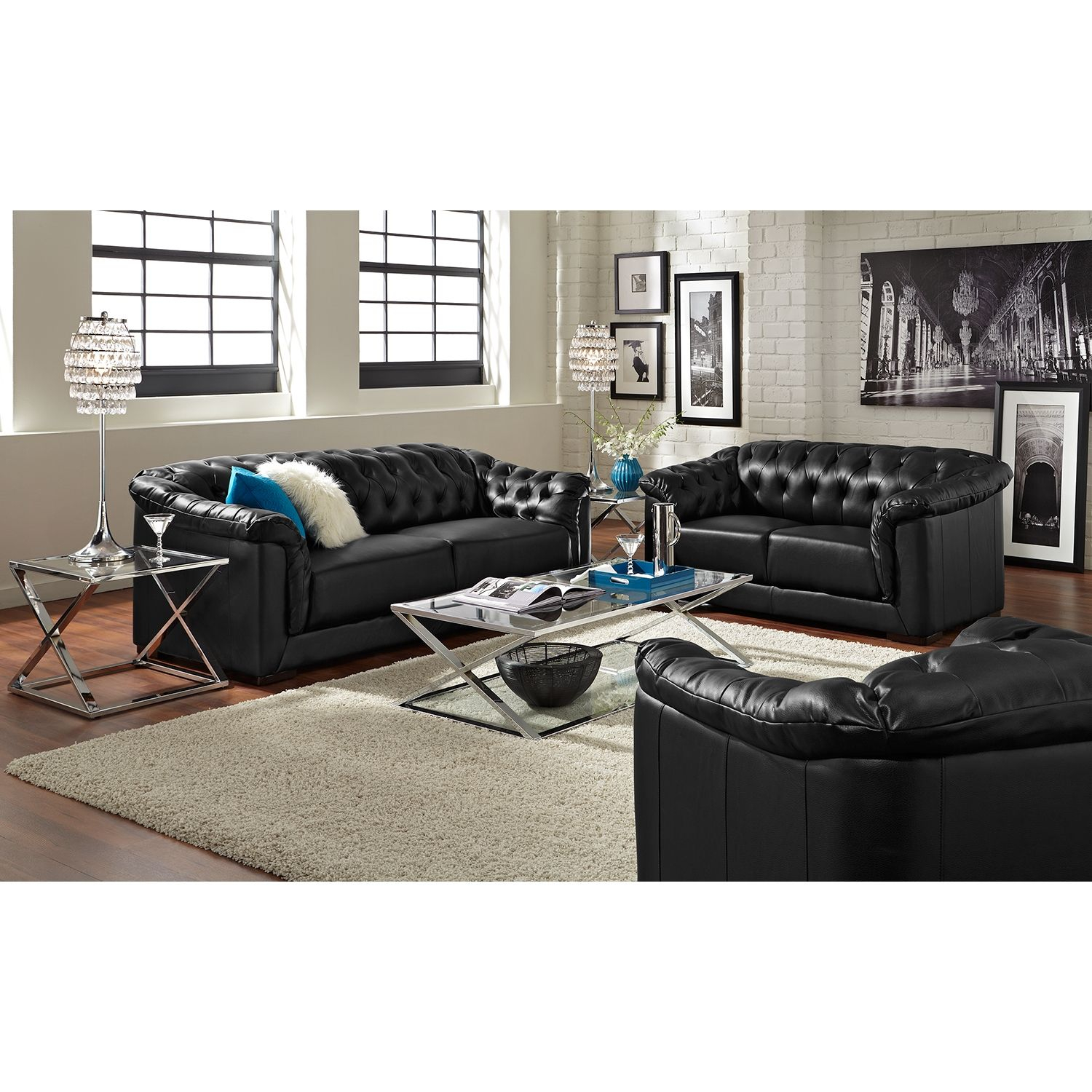 Living Room Furniture Carmen Charcoal Black Sofa 500 with dimensions 1500 X 1500
