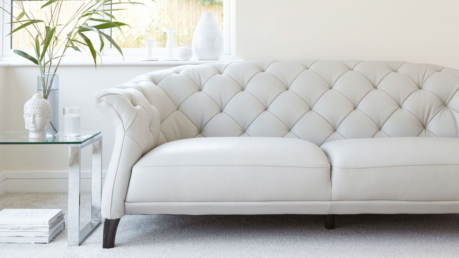 Luxe Modern 2 To 3 Seater Leather Chesterfield Sofa Best within measurements 1505 X 846