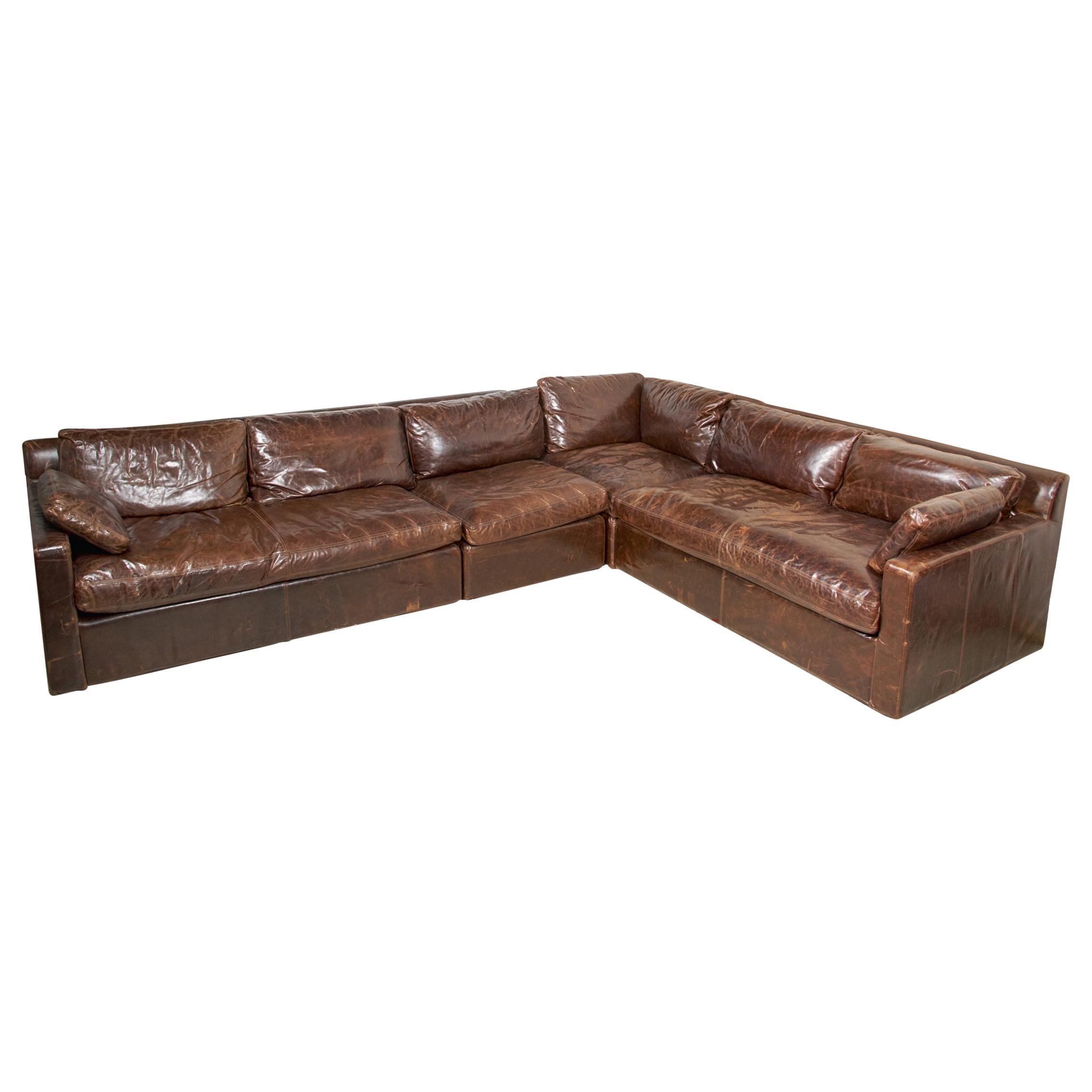 Maxwell Leather Sectional Sofa Restoration Hardware Four with proportions 2262 X 2262
