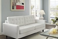 Modern Sofa Deeply Tufted Buttons Bonded Leather Solid inside dimensions 1600 X 1600