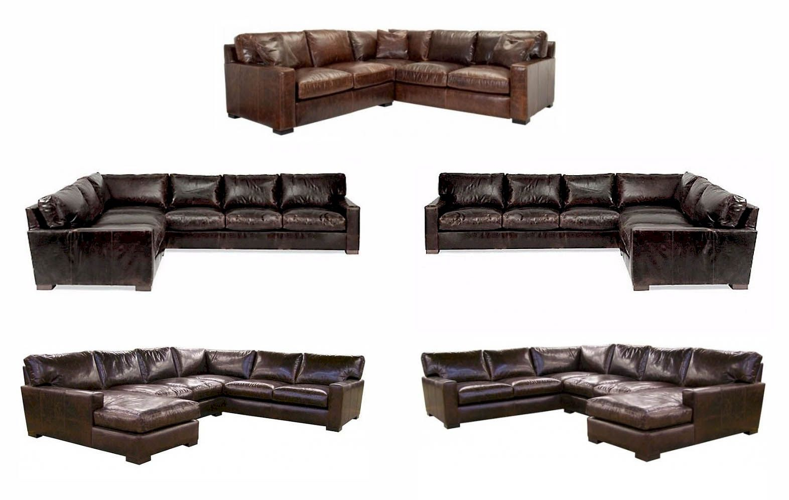 Napa Maxwell Oversized Seating Leather Sectional Bedroom for dimensions 1572 X 996