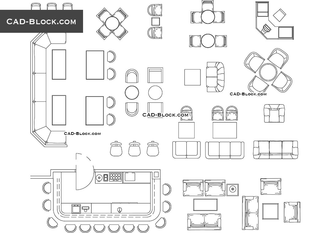 Restaurant Bar Furniture Cad Drawings Autocad File Free with regard to proportions 1080 X 760