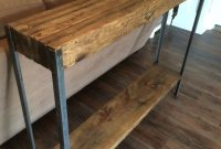 Rustic Metal Leg Sofa Table Diy Sofa Table Rustic Sofa within measurements 1000 X 1334