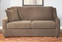 Stretch Pique Three Piece Full Size Sleeper Sofa Slipcover throughout size 1400 X 961