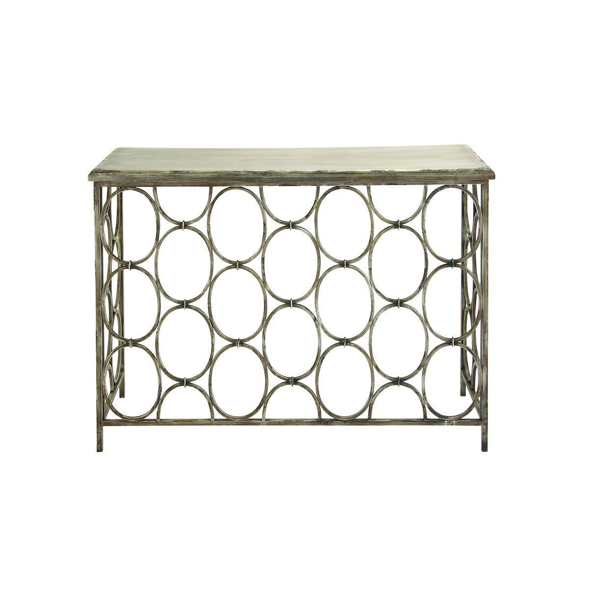 Studio 350 Metal Wood Console Table 43 Inches Wide X 33 intended for sizing 1200 X 1200