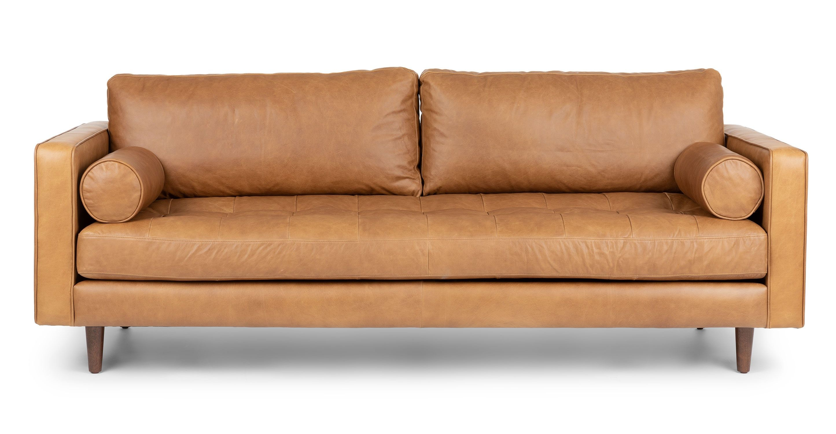 Tan Brown Leather Sofa Italian Leather Article Sven within dimensions 2890 X 1500