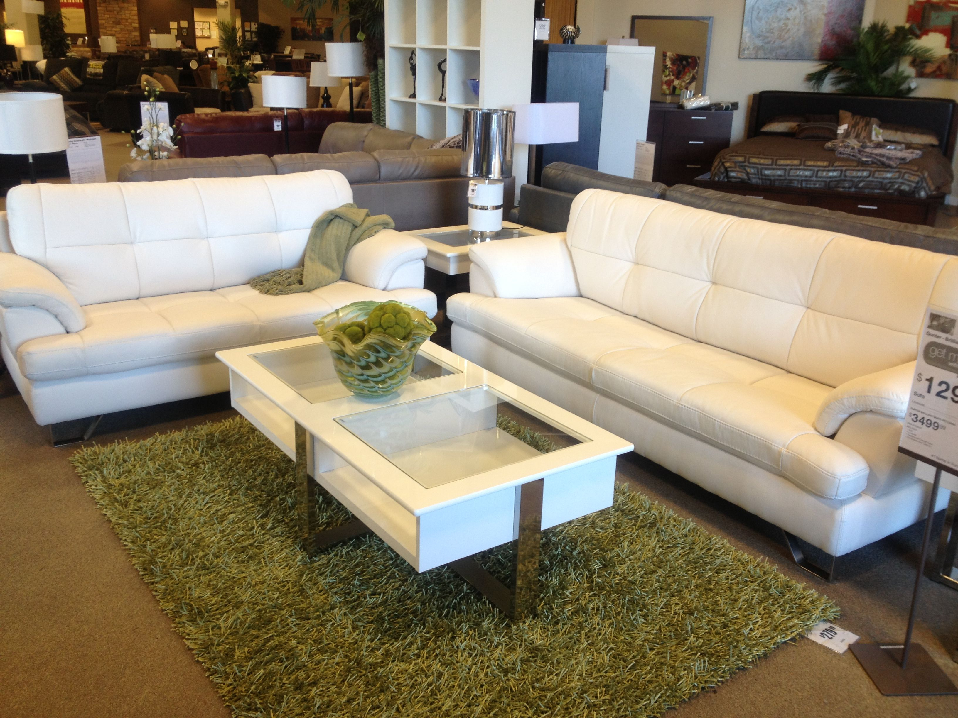 White Leather Couch White Coffee Table Love Leather throughout size 3264 X 2448