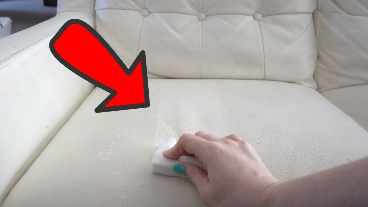 White Leather Sofa Cleaning With 6 Kids pertaining to size 1280 X 720