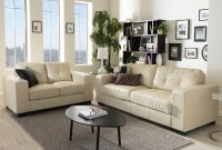 Whitney Modern Ivory Faux Leather Sofa And Loveseat Set regarding proportions 2000 X 2000