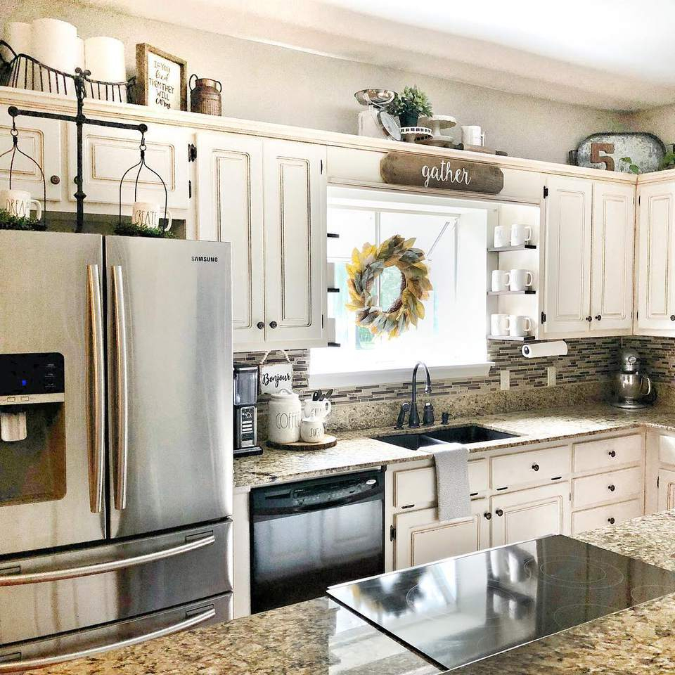 Above Kitchen Cabinet Decorating Ideas Pictures • Patio Ideas