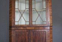Antique Mahogany Astragal Glazed Corner Cabinet regarding proportions 794 X 1189