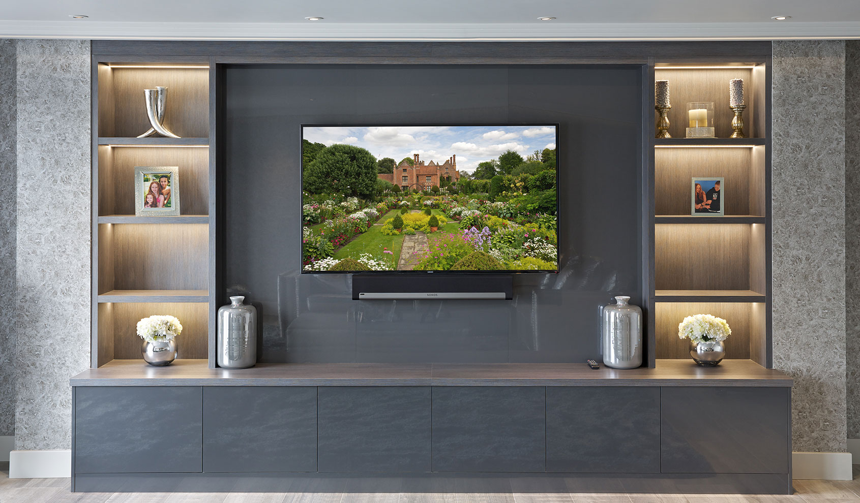 Bespoke Entertainment Rooms And Tv Units The Wood Works pertaining to proportions 1691 X 990