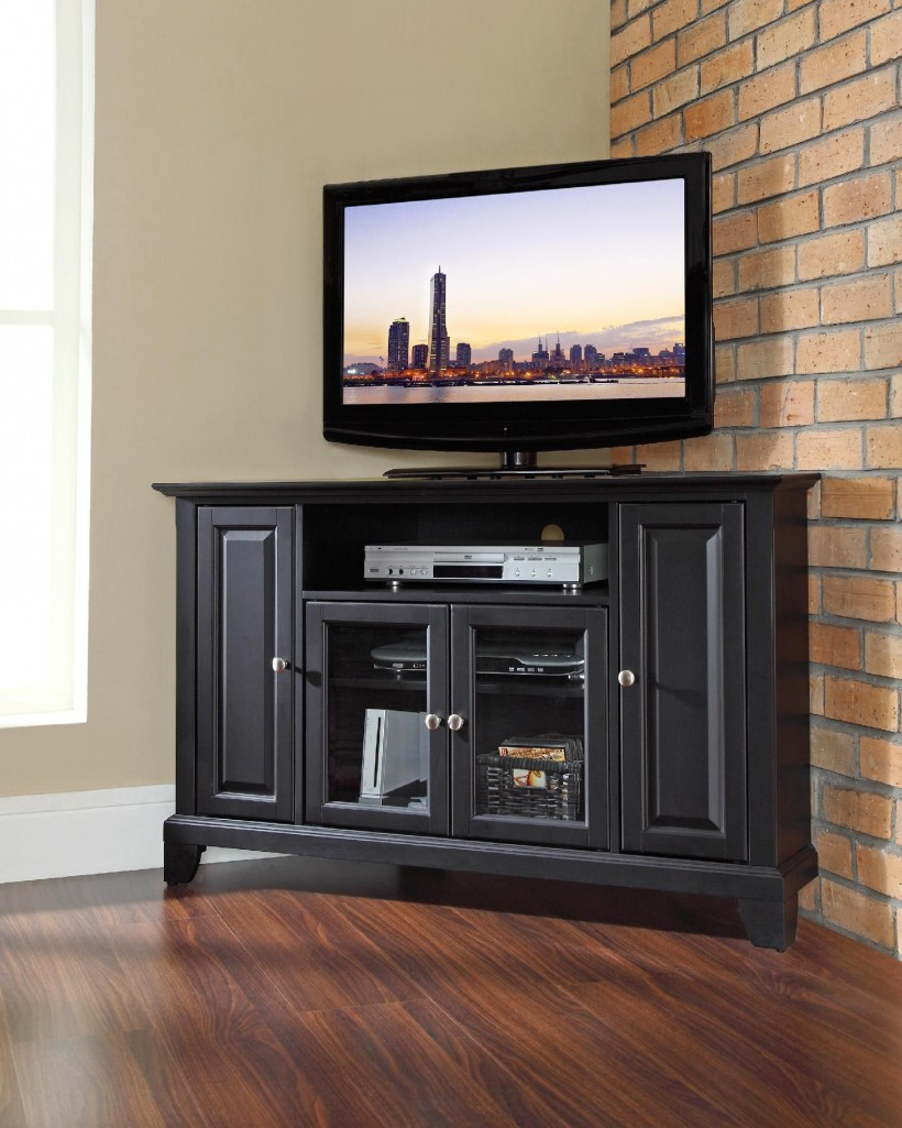 Furniture Interesting Corner Media Cabinet For Entertaining with regard to proportions 820 X 1025
