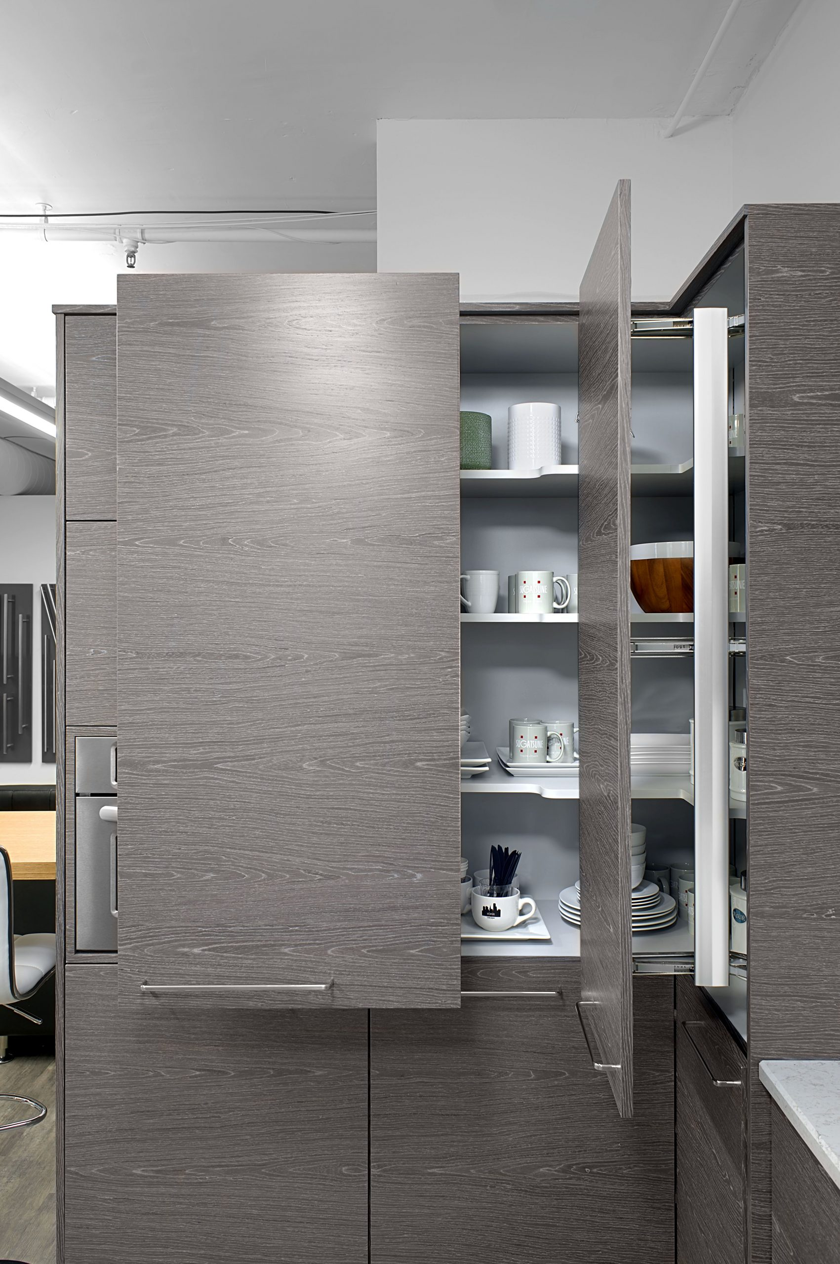 Lateral Opening Cabinet Systems Great Space Saving Ideas within proportions 4023 X 6055