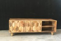 Light Mango Wood Tv Standmedia Unit With Hexagonal Patterns within dimensions 2016 X 1512