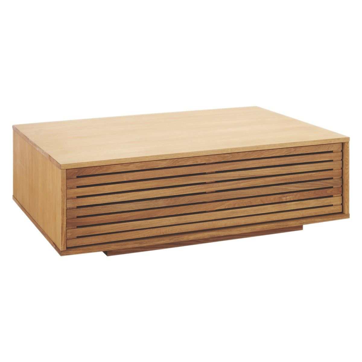 Max Oiled Solid Oak Coffee Table With Internal Storage Oak intended for size 1200 X 1200