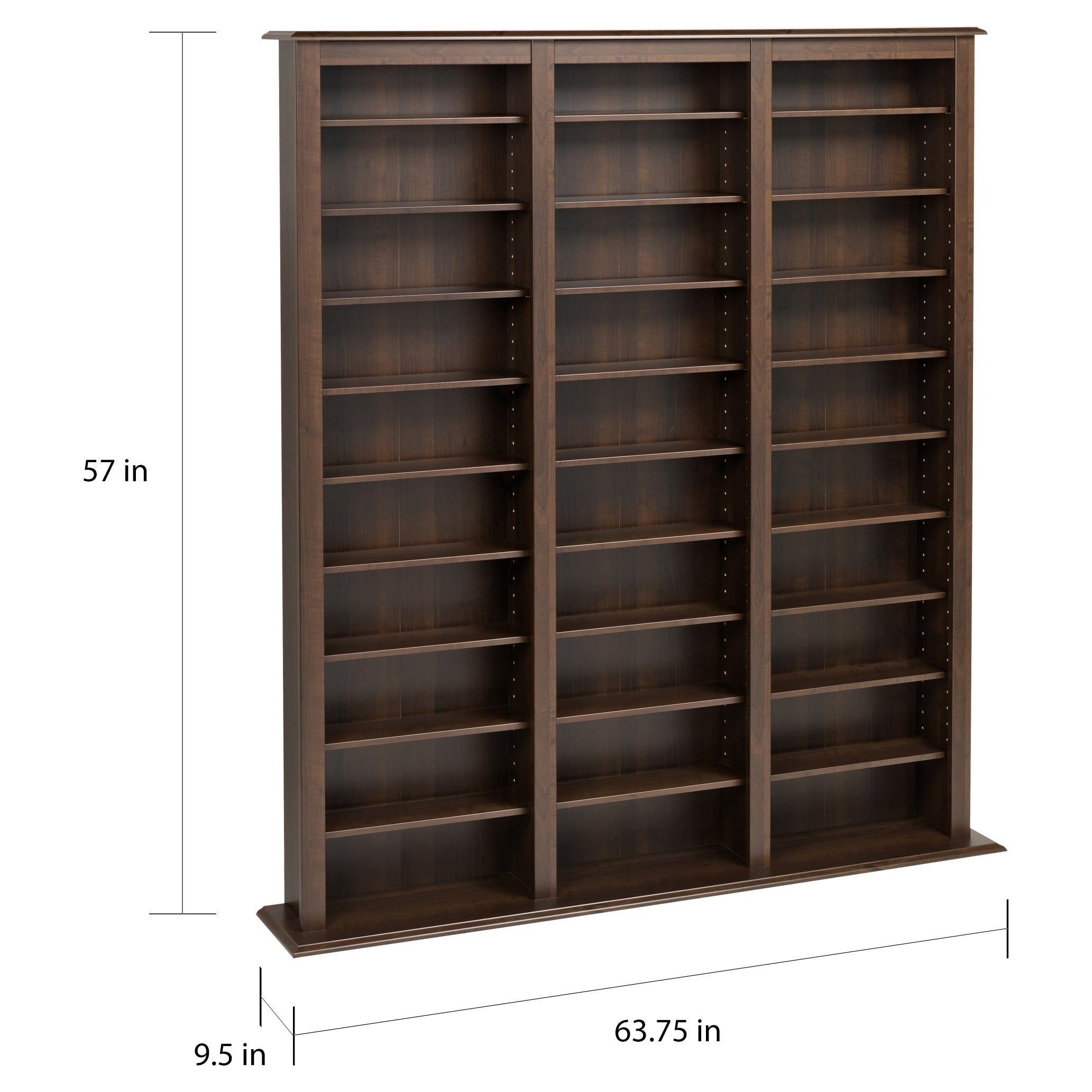 Prepac Everett Espresso Barrister Media Storage Cabinet throughout proportions 2065 X 2065