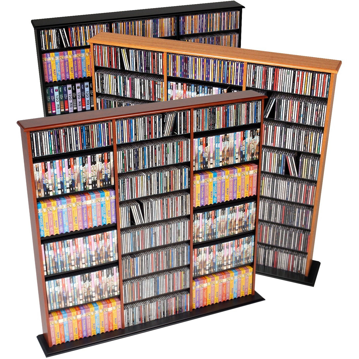 Prepac Triple Width Multimedia Wall Storage 56 W X 51 H X 875 D with sizing 1456 X 1456