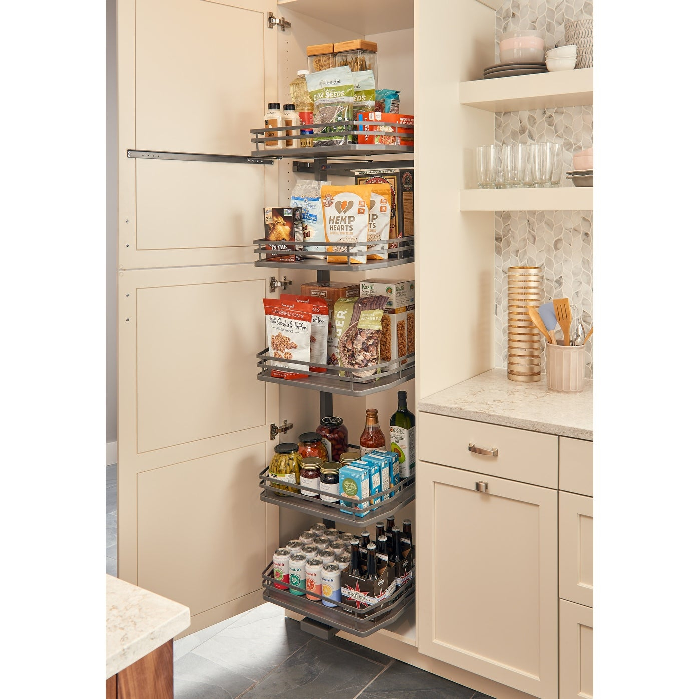 Tall Pantry Cabinet With Pull Out Drawers • Patio Ideas