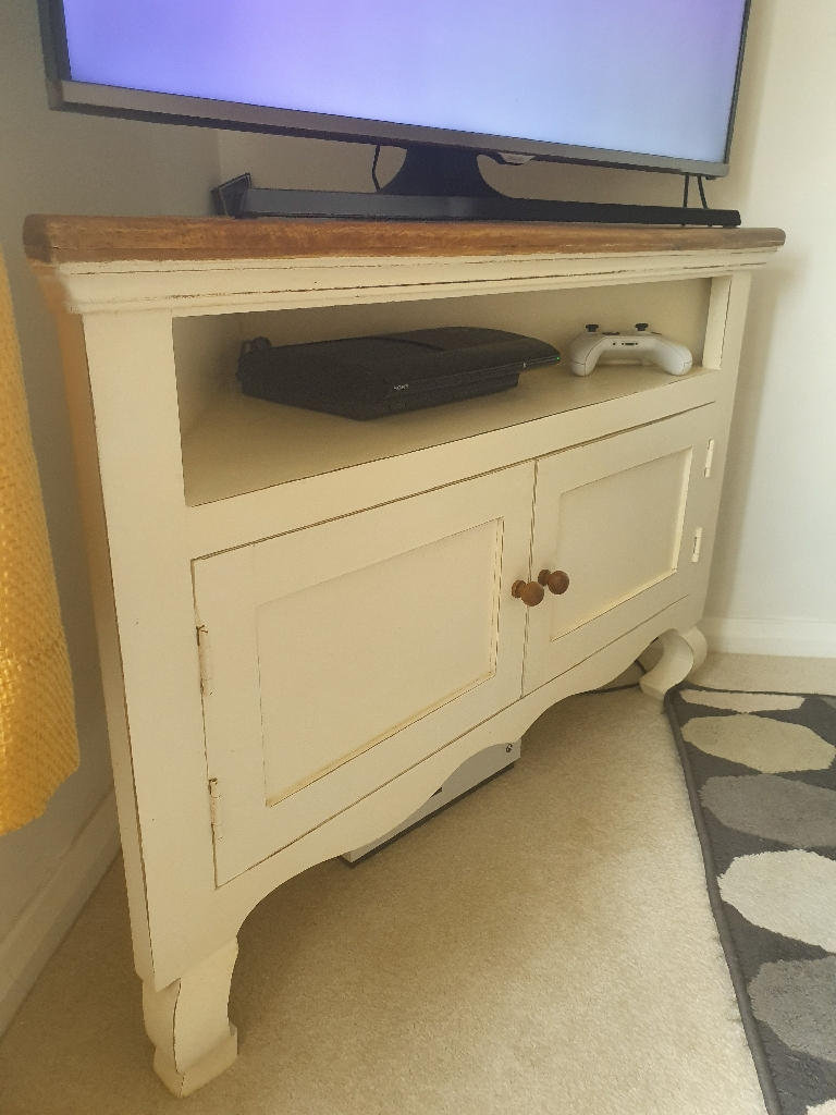 Rustic Shab Chic Corner Tv Unit inside measurements 768 X 1024